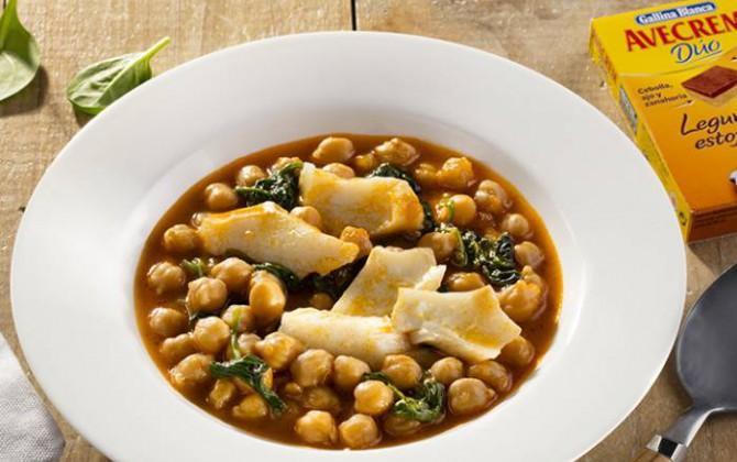 receta de potaje de garbanzos con bacalao