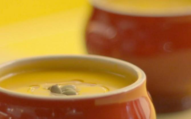 receta de Crema de calabaza y pipas