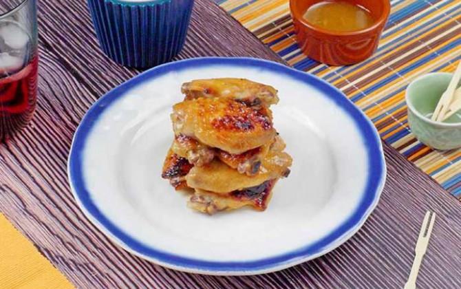 Alitas con mostaza y miel