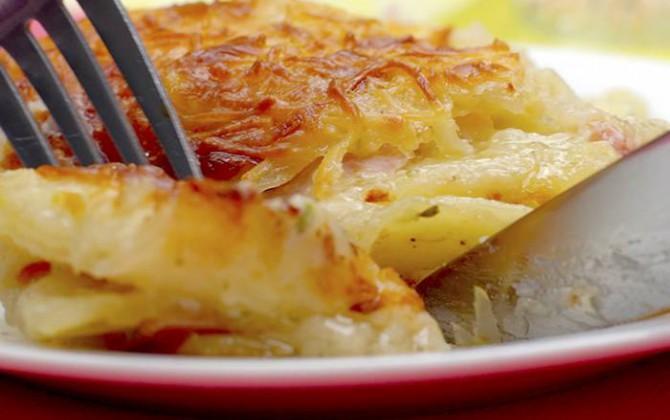 Pastel de patata y jamón