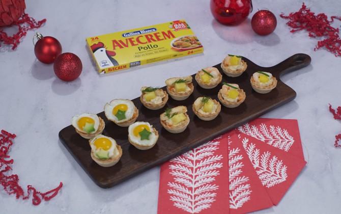 Tartaletas saladas con producto