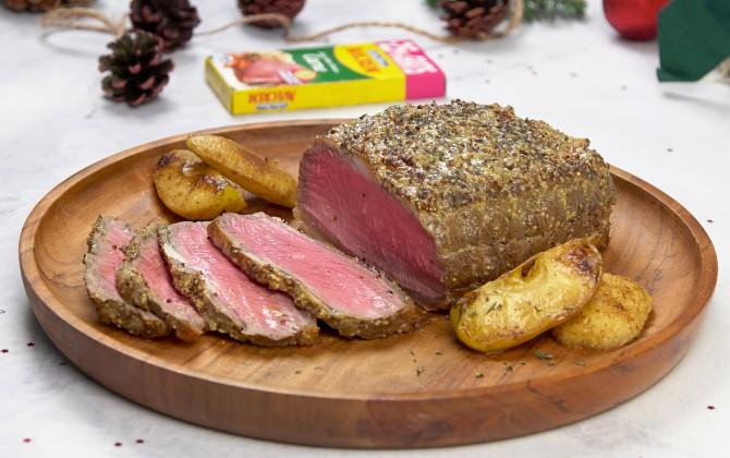 Emplatado con producto roastbeef de ternera