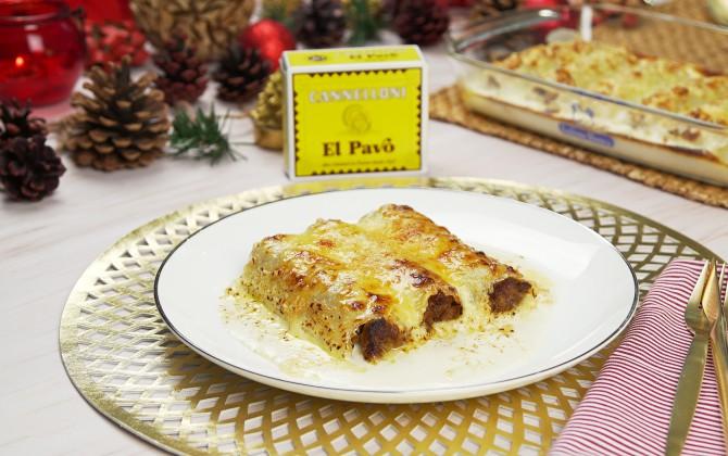 Emplatado con producto canelones navidad tradicionales