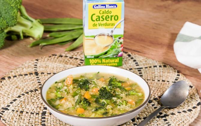 Emplatado con producto sopa de quinoa