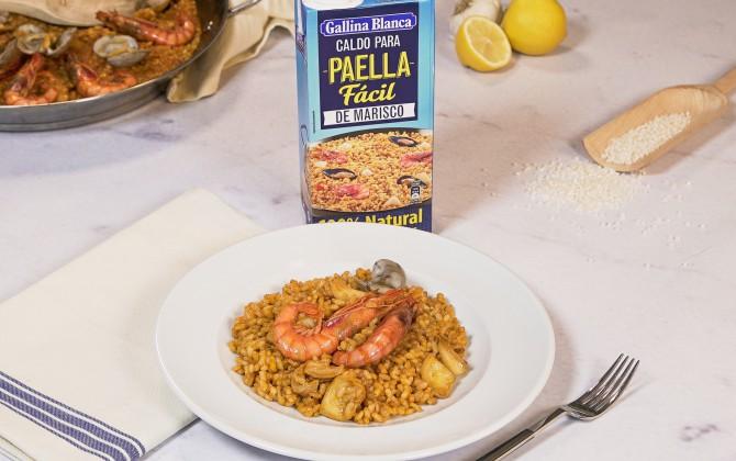 Emplatado con producto arroz marinero