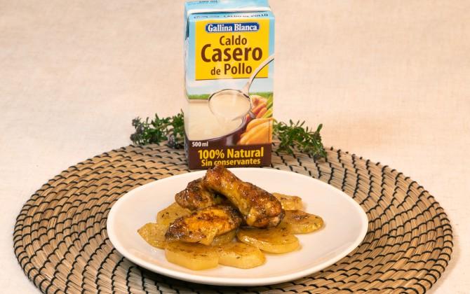 Emplatado con producto alitas de pollo al horno