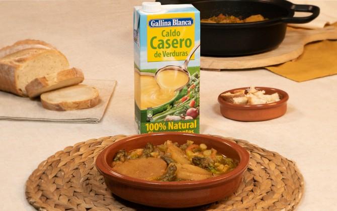 Emplatado con producto sopa perota