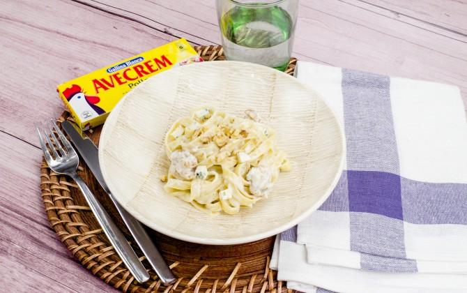 Pasta con gorgonzola y nueces