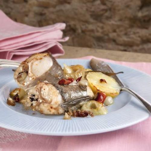 receta de pescadilla al horno