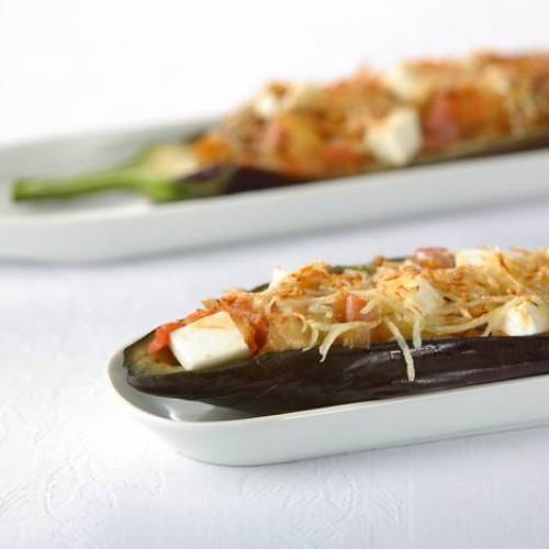 Berenjenas rellenas de queso fresco