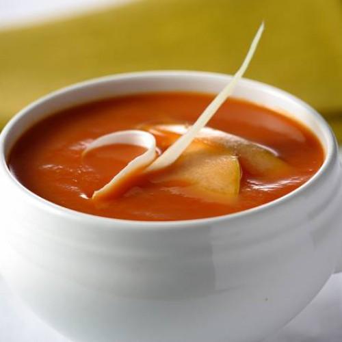 Receta de sopa de tomate y calabaza