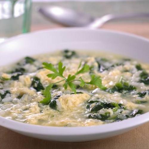 Sopa de acelgas y patatas con arroz