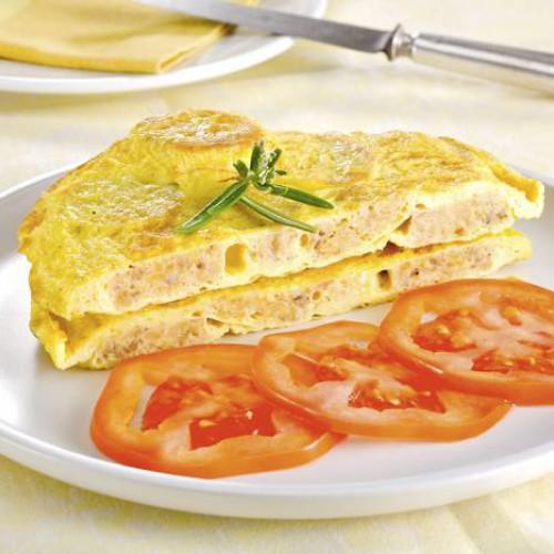Tortilla de butifarra de huevo