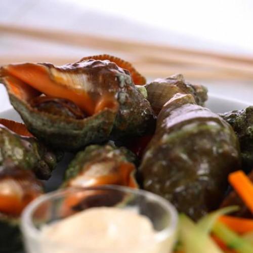 Caracoles de mar con all i oli