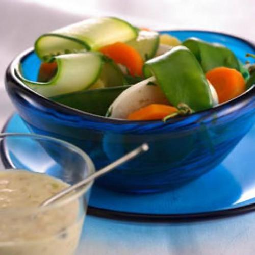 Verduras al vapor con salsa