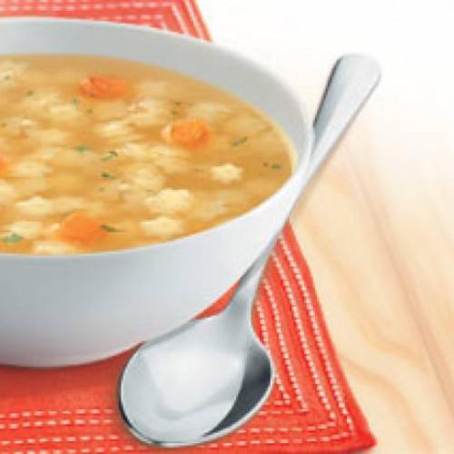 Sopa de ternera con estrellitas