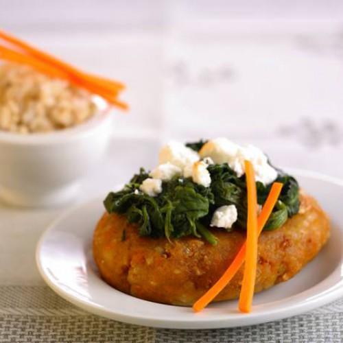Hamburguesas de arroz y verduras
