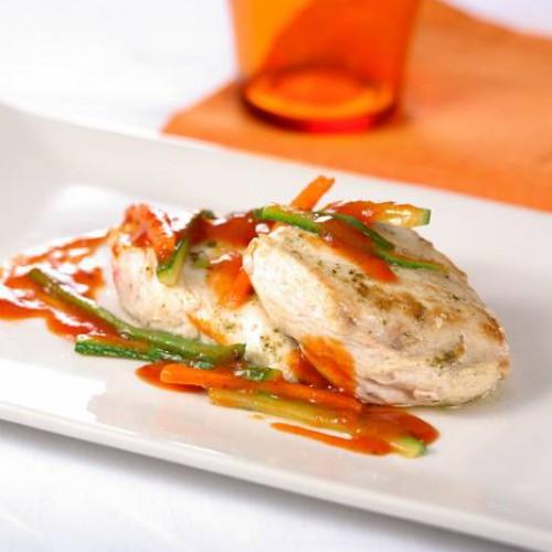 Receta de Pechugas de Pollo con Verduras