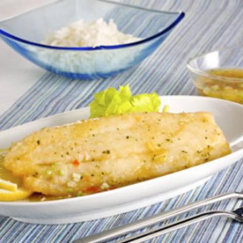 Supremas de pescado con Mi Salsa Pimienta Verde