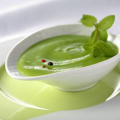 Crema de judía verde con yogur