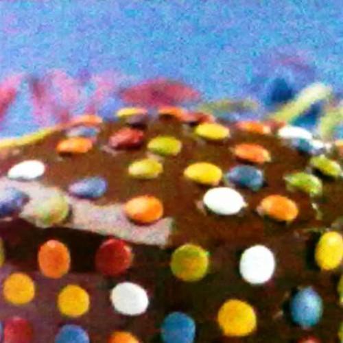 tarta de chocolate casera con lacasitos