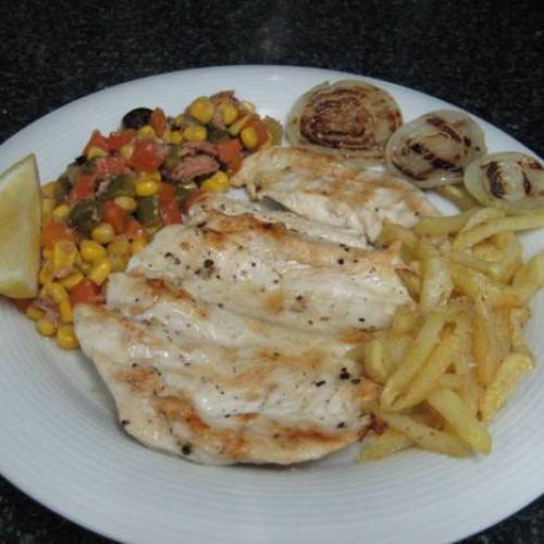 churrasco de pollo al limón