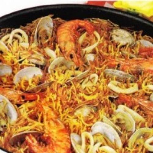 receta de fideua con marisco