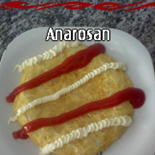 tortilla de patatas de dos huevos