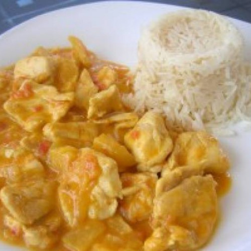 pavo con curry