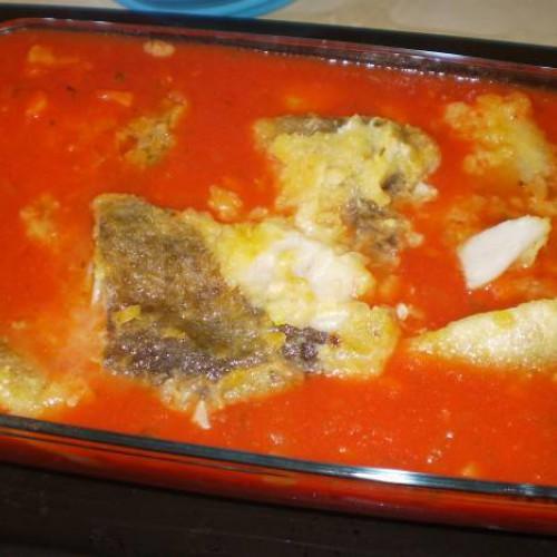 bacalao con tomate al horno