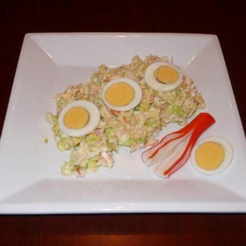 ensalada de palitos de cangrejo al estilo chao