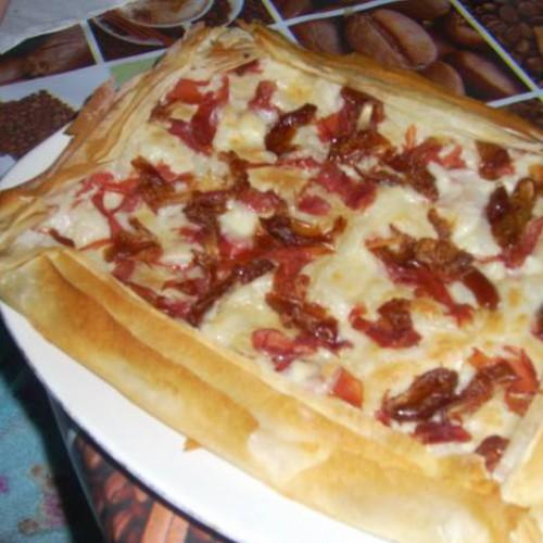 masa filo rellena de queso