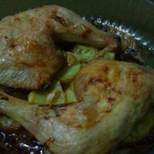 como preparar un pollo asado para dieta