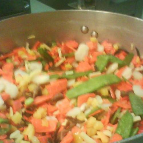 salteado de verduras con curry