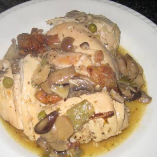 pollo asado guisado