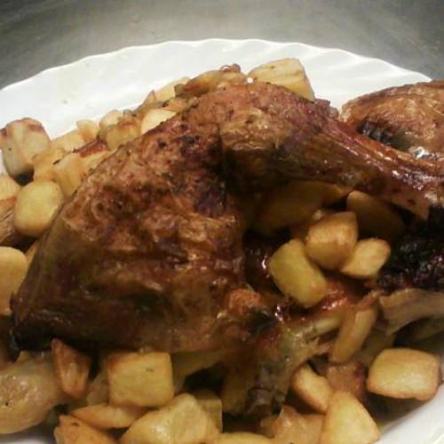 pollo marinado al horno