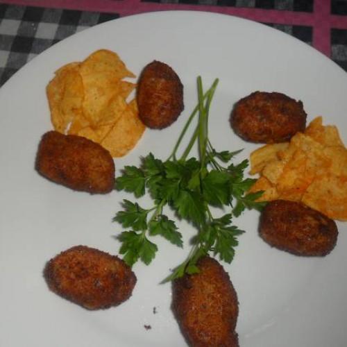 croqueta casera de patata y jamón