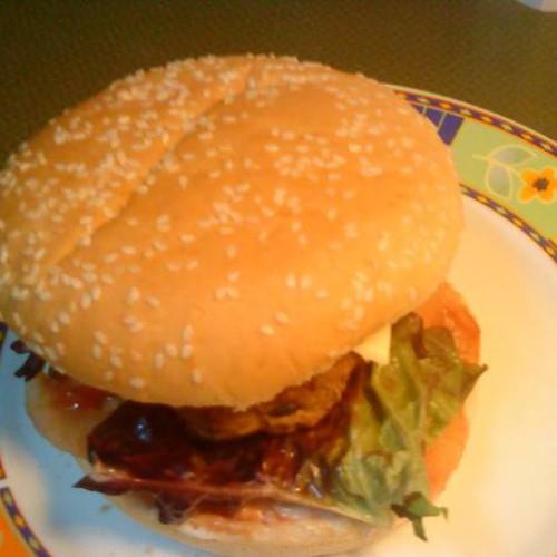 hamburguesa casera para molero