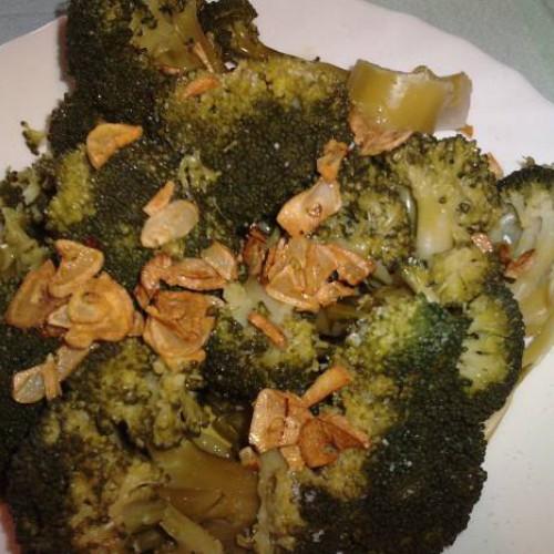 ensalada de brócoli al ajillo
