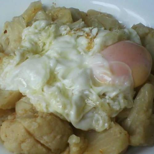 coliflor con huevo