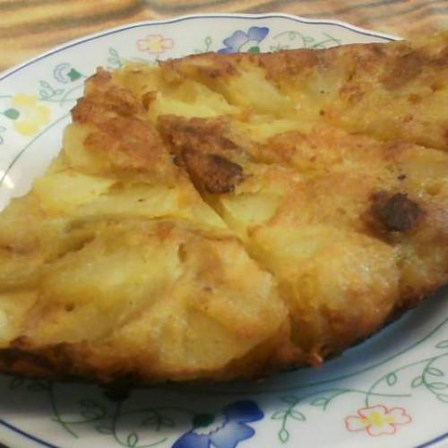 tortilla de platano y manzana