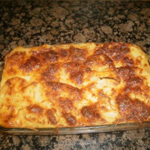 pastel de patatas y cebolla