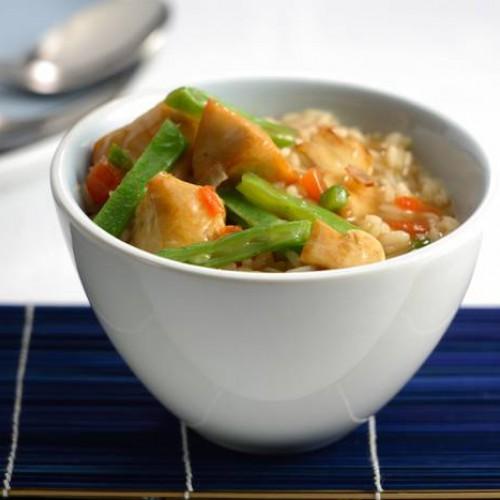 Cazuela de arroz con pollo
