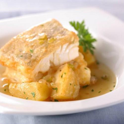 lomo de bacalao con patatas