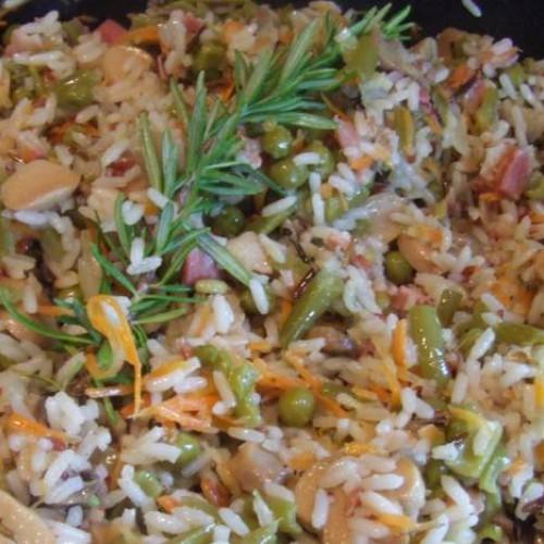 arroz con un toquecito de romero