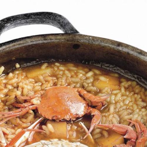 Arroz de cangrejos y sepia