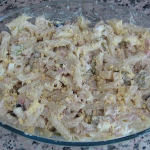 ensalada de pasta con mayonesa a mi manera