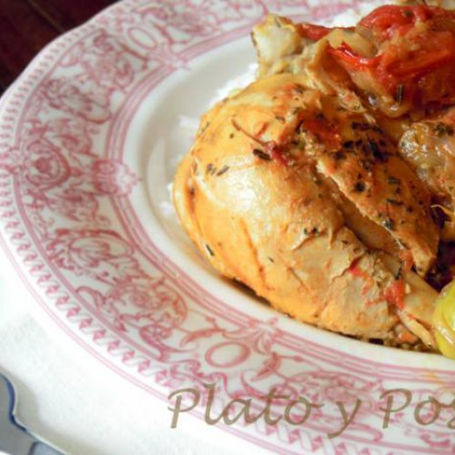 pollo a la provenzal en sartén