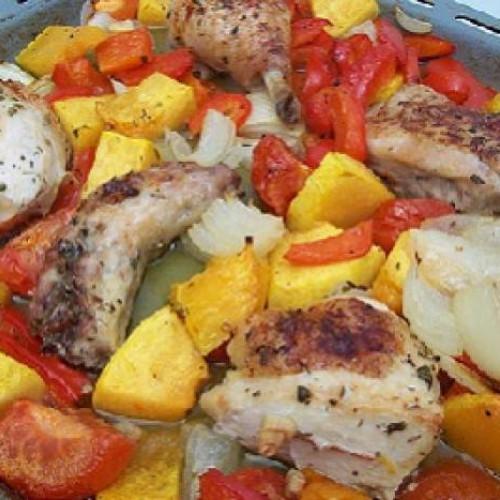 pollo asado casero