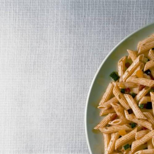 Pasta con hortalizas y verduras